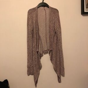 American Eagle Outfitters Burgundy Long Cardigan